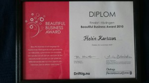 Finalplats, Beautiful Business Award